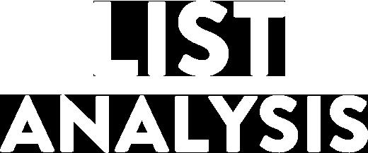 List Analysis